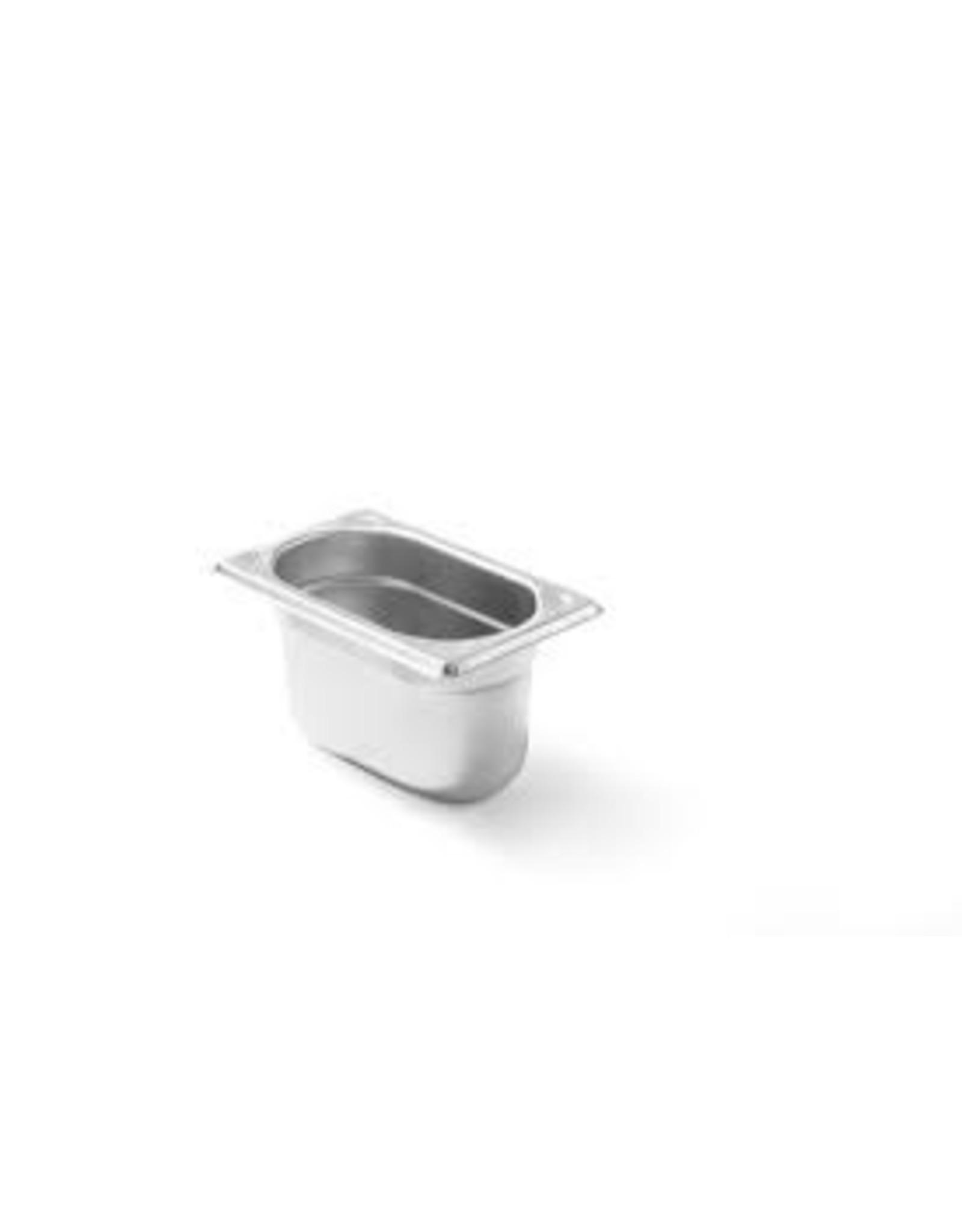 Q-Gastro Gastronormbehälter Edelstahl 1/9 GN   100mm   176 x 108 mm