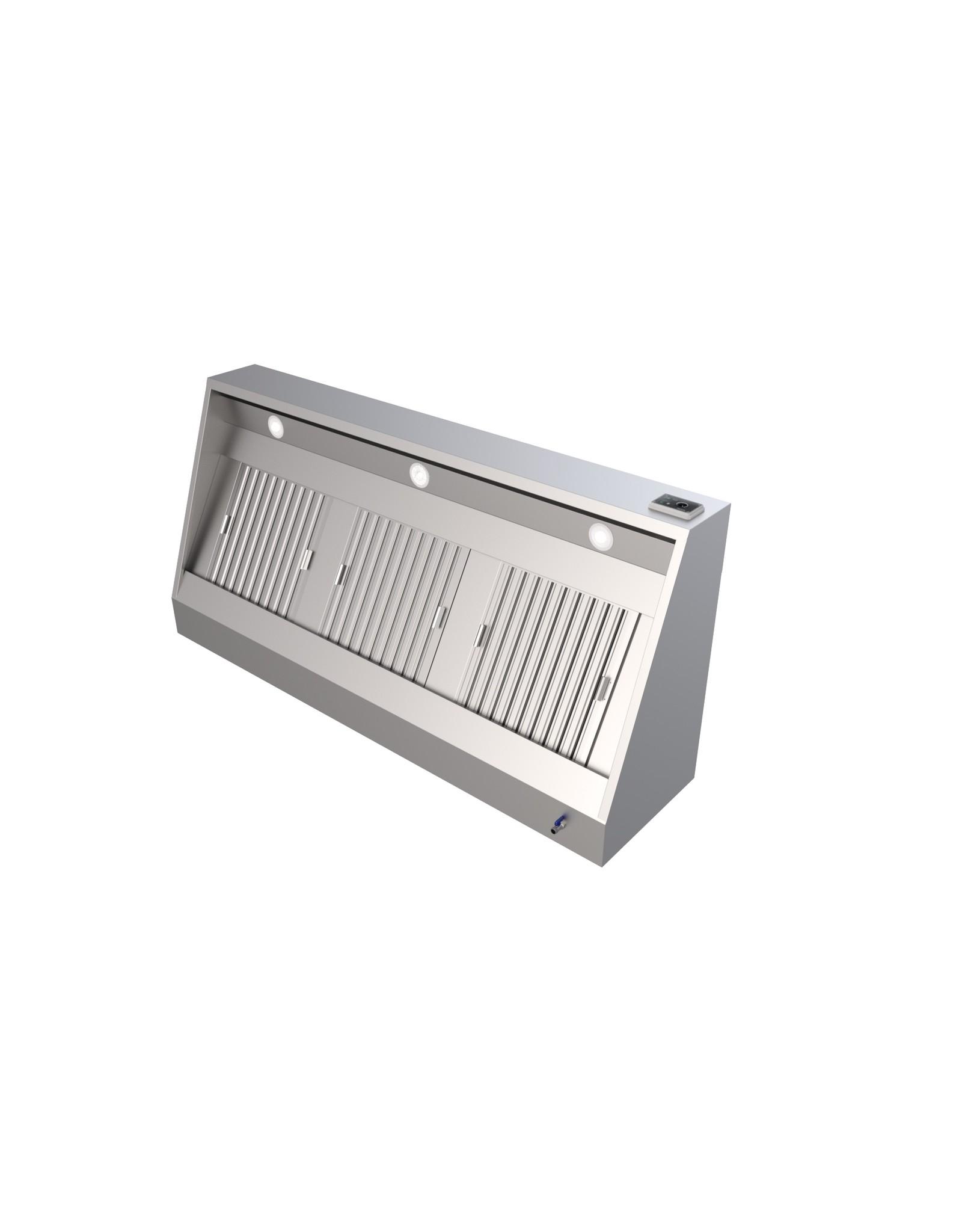Q-Gastro Edelstahl-Dunstabzugshaube NEU !! Beleuchtung + Motor + Controller + Filter 200x70x54