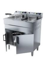 Q-Gastro Q-Gastro 2 pan's Elektrische Friteuse 400V (Nieuw)