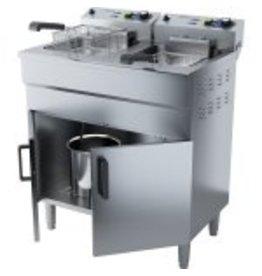 Q-Gastro Q-Gastro 2 Pfannen Elektrische Friteuse 400V (Neu)