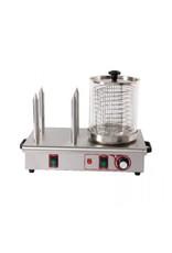 Q-Gastro Q-Gastro Hotdog Verwarmer, 4 broodstangen 230V (Nieuw)