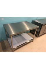 Q-Gastro RVS Werktafel 120x80 met Bodemplaat (Nieuw!!)