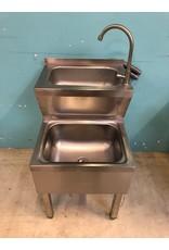 RVS RVS Dubbele Handwasbak (Nieuw)