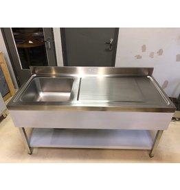 Q-Gastro Q-Gastro Robust Edelstahl 1 Baks Waschbecken 160x70 (Neu)