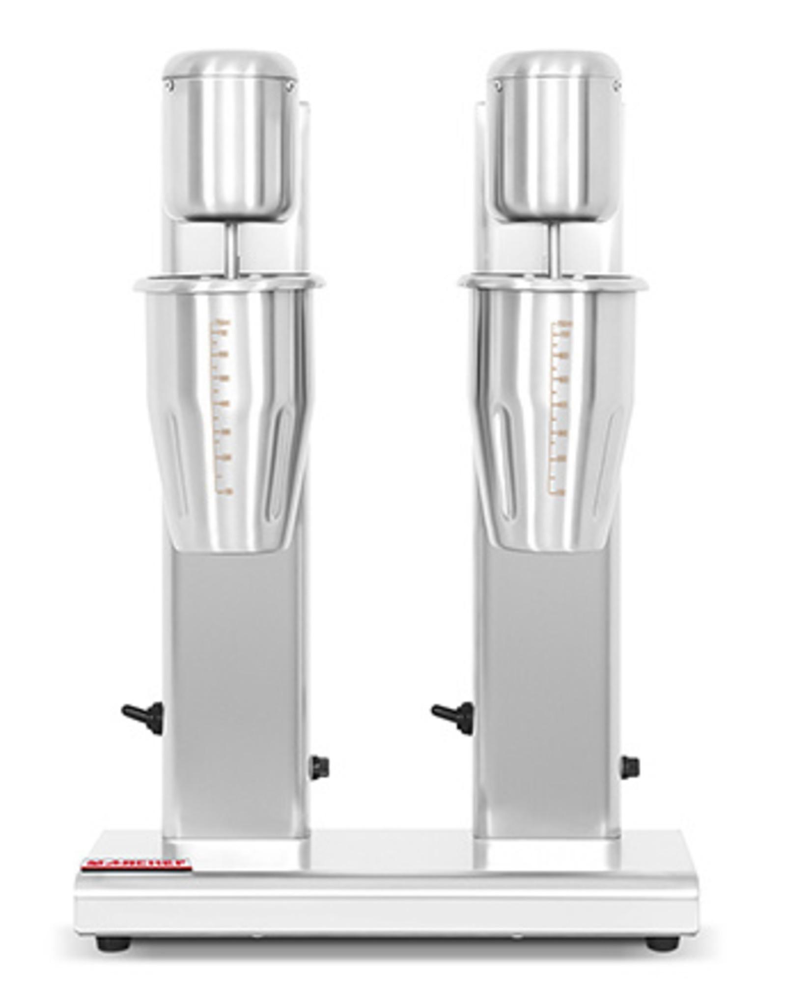 Q-Gastro Q-Gastro Milkshaker / Drink mixer Dubbele Beker - 2 Snelheden  (Nieuw)