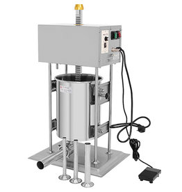 Q-Gastro Q-Gastro Automatische Worstenvuller 15L - Verticaal - RVS - 4 Vulbuizen (Nieuw)