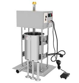 Q-Gastro Q-Gastro Automatischer Wurstfüller 15L - Vertikal - Edelstahl - 4 Füllrohre (Neu)