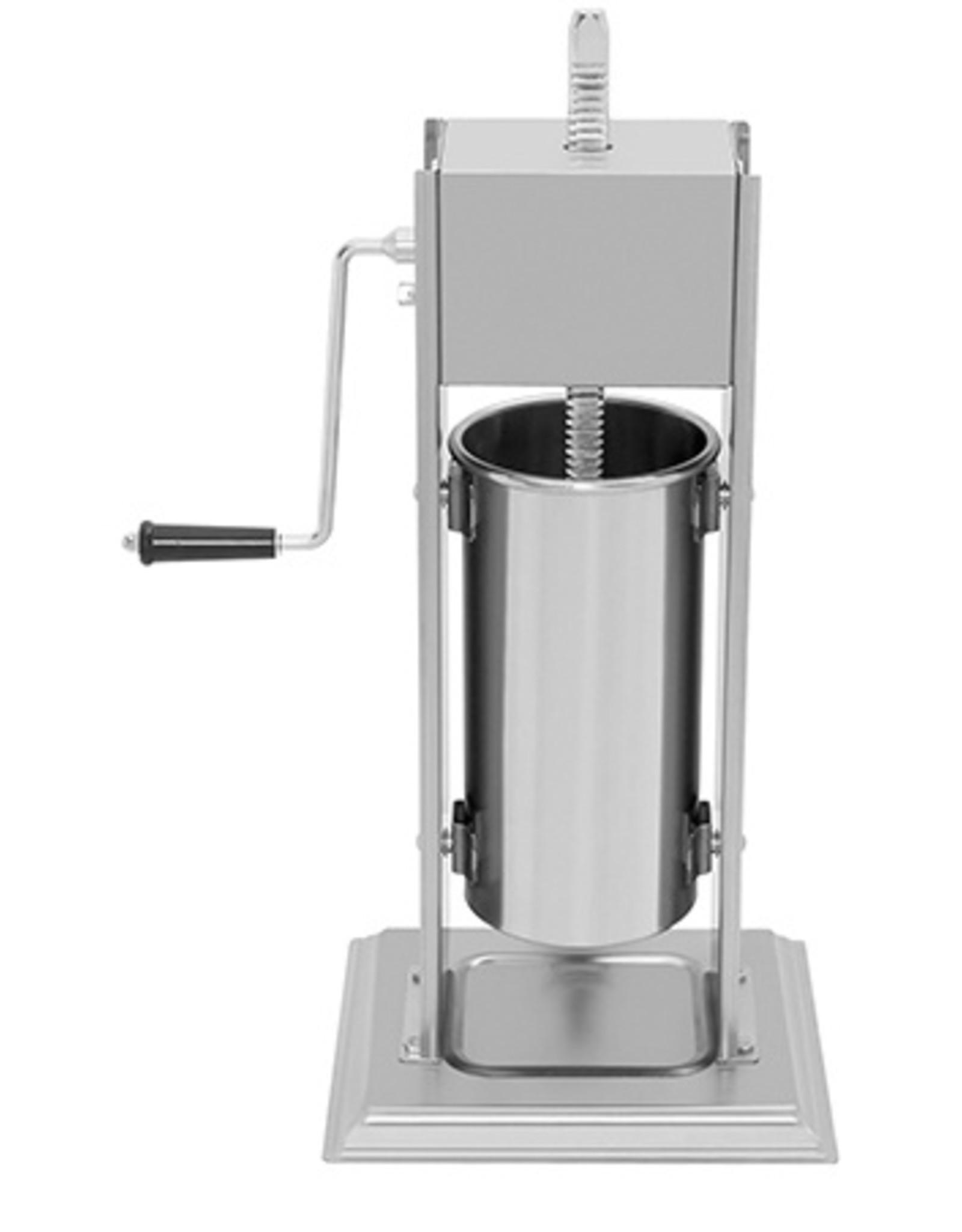 Q-Gastro Q-Gastro Worstenvuller 5L - Verticaal - RVS - 4 Vulbuizen (Nieuw)