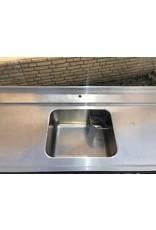RVS RVS Aanvoertafel 238x71,5x90 Rechts en links t.b.v. Doorschuifvaatwasmachine