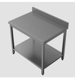 Q-Gastro Edelstahl-Arbeitstisch 100x70x85 mit Grundplatte und erhöhter Kante (Neu !!)