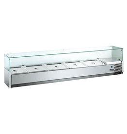 Q-Gastro Edelstahl-Design Kühlvitrine Saladiere 1400 1/3 GN (neu im Karton) 230V