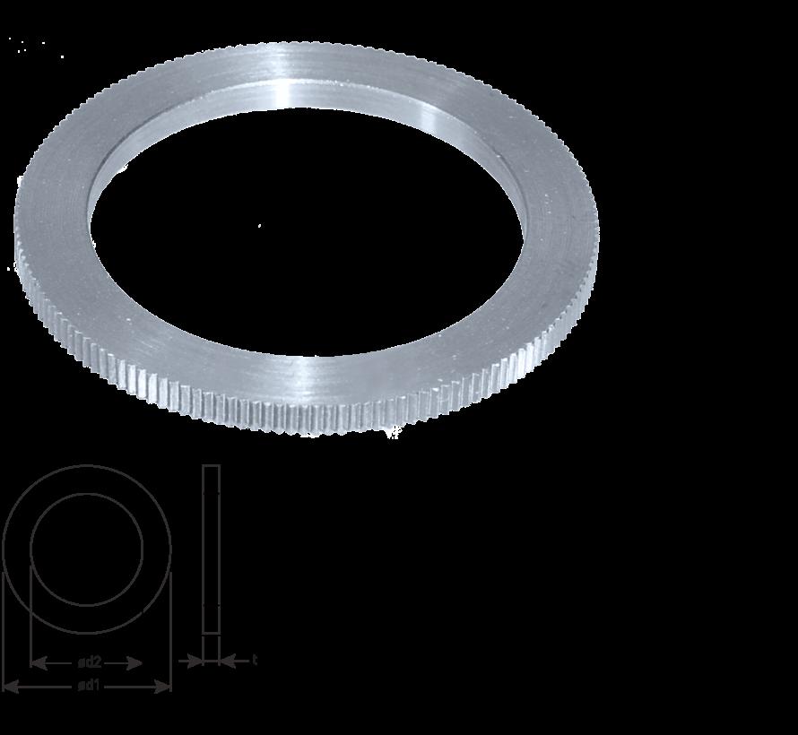 Reduceerring Ø30-Ø15 x 2,0 mm.
