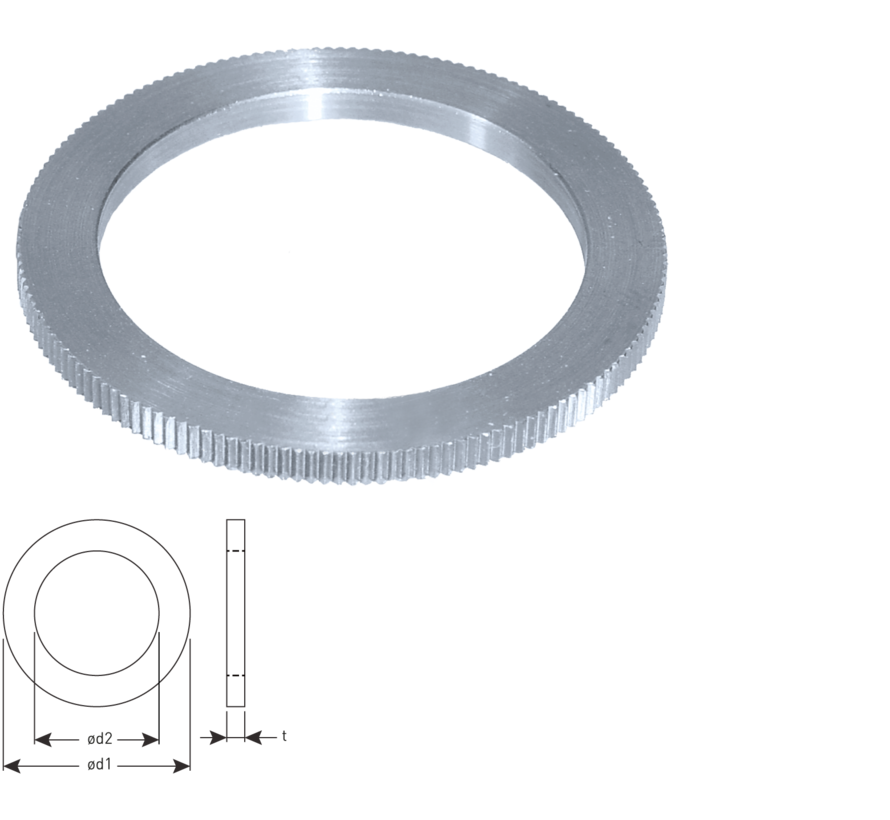 Reduction ring Ø30-Ø15 x 2,0 mm.
