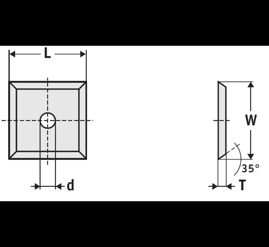 Wisselmessen 14 x 14 x 2 mm. (10 stuks)