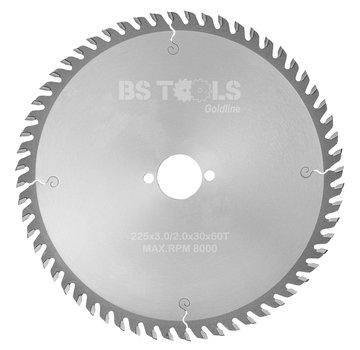 BS tools GoldLine HM zaag GoldLine 225 x 3,0 x 30 mm.  T=60 LAMINAAT / HPL