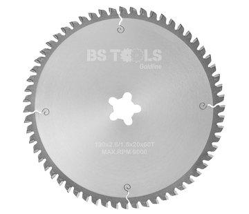 BS tools GoldLine Circular saw GoldLine 190 x 2,6 x FF mm.  T=60 TCG neg.