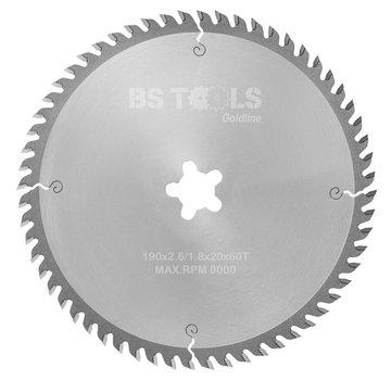 BS tools GoldLine Circular saw GoldLine 190 x 2,6 x FF mm.  T=60 ATB
