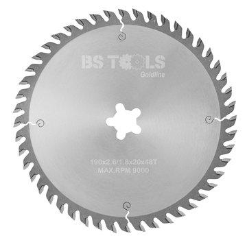 BS tools GoldLine Circular saw GoldLine 190 x 2,6 x FF mm.  T=48 ATB