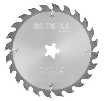 BS tools GoldLine Circular saw GoldLine 190 x 2,6 x FF mm.  T=24 ATB