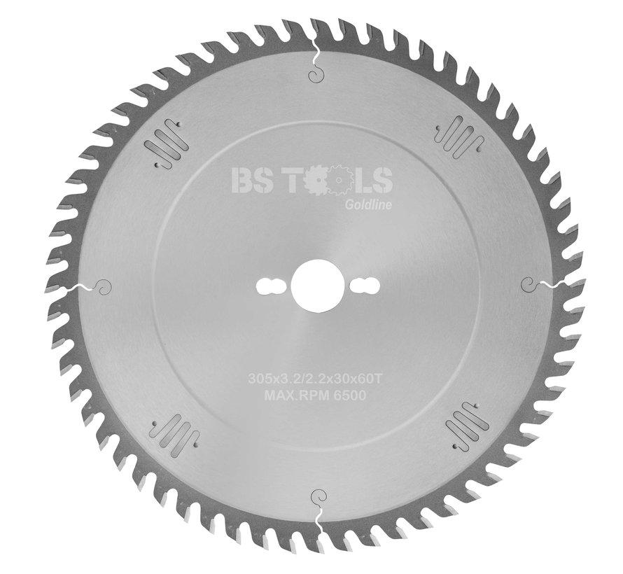 Circular sawblade GoldLine 305 x 3,2 x 30 mm.  T=60 alternate top bevel teeth