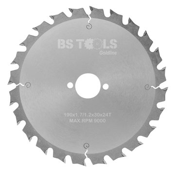 BS tools GoldLine Circular saw GoldLine 190 x 1,7 x 30 mm.  T=24 ATB
