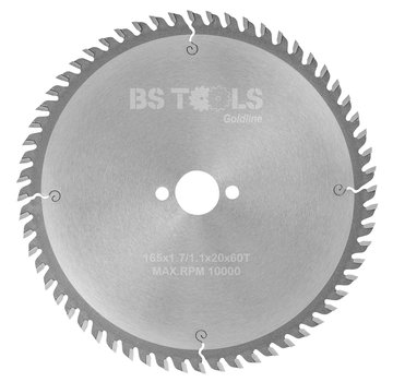 BS tools GoldLine Circular saw GoldLine 165 x 1,7 x 20 mm.  T=60 ATB