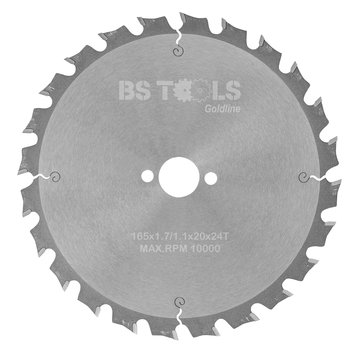 BS tools GoldLine Circular saw GoldLine 165 x 1,7 x 20 mm.  T=24 ATB