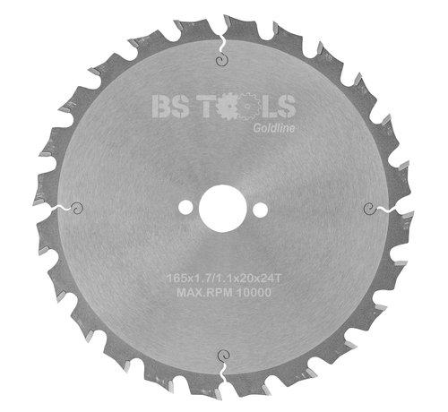 BS tools GoldLine Circular sawblade GoldLine 165 x 1,7 x 20 mm.  T=24 alternate top bevel teeth