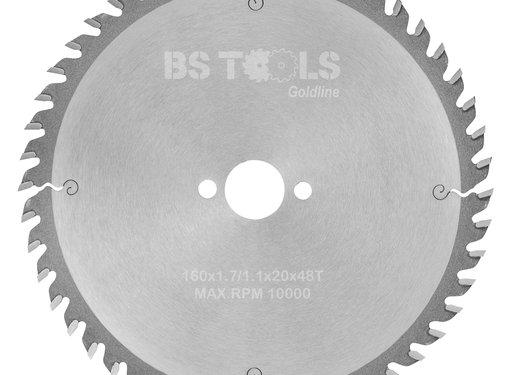 BS tools GoldLine Circular saw BlueLine 160 x 1,7 x 20 mm.  T=48 ATB