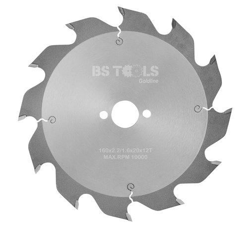 BS tools GoldLine Circular sawblade GoldLine 160 x 2,2 x 20 mm.  T=12 alternate top bevel teeth