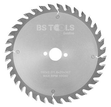 BS tools GoldLine Circular saw GoldLine 160 x 2,2 x 20 mm.  T=36 ATB