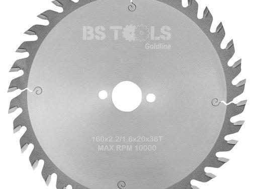 BS tools GoldLine HM zaag GoldLine 160 x 2,2 x 20 mm.  T=36 wz