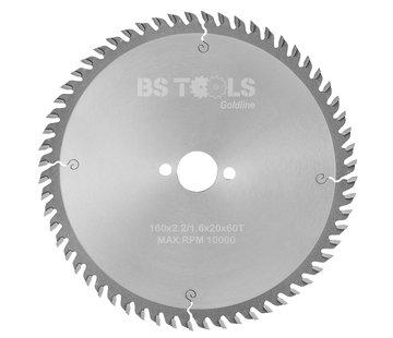 BS tools GoldLine HM zaag GoldLine 160 x 2,2 x 20 mm.  T=60 ALUMINIUM