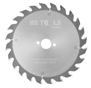 BS tools GoldLine Circular saw GoldLine 160 x 2,2 x 20 mm.  T=24 ATB