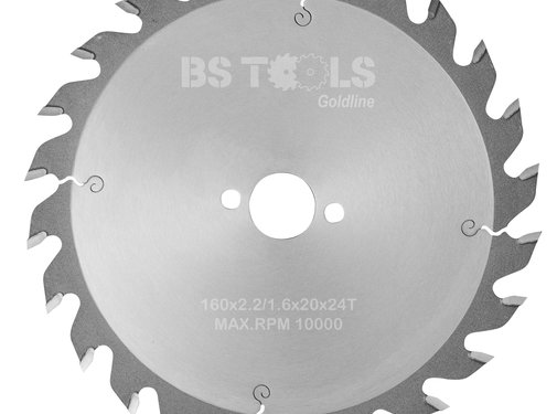 BS tools GoldLine Circular saw GoldLine 160 x 2,2 x 20 mm.  T=24 ATB