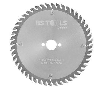 BS tools GoldLine HM Sägeblatt GoldLine 160 x 2,2 x 20 mm. T=48 wz