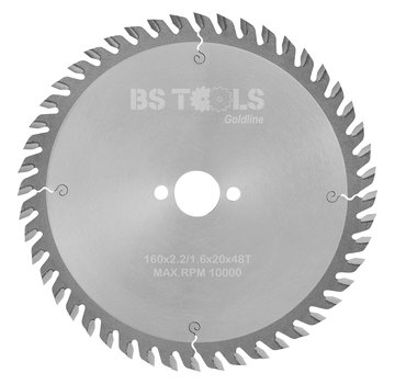BS tools GoldLine Circular saw GoldLine 160 x 2,2 x 20 mm.  T=48 ATB
