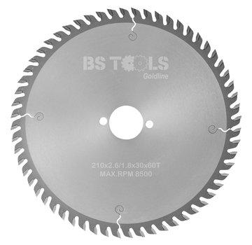 BS tools GoldLine HM zaag GoldLine 210 x 2,8 x 30 mm.  T=60 LAMINAAT / HPL
