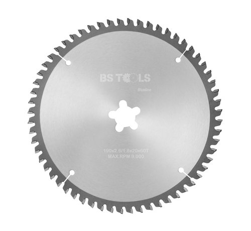 BS tools BlueLine Circular sawblade BlueLine 190 x 2,6 x FF mm.  T=60 for aluminum