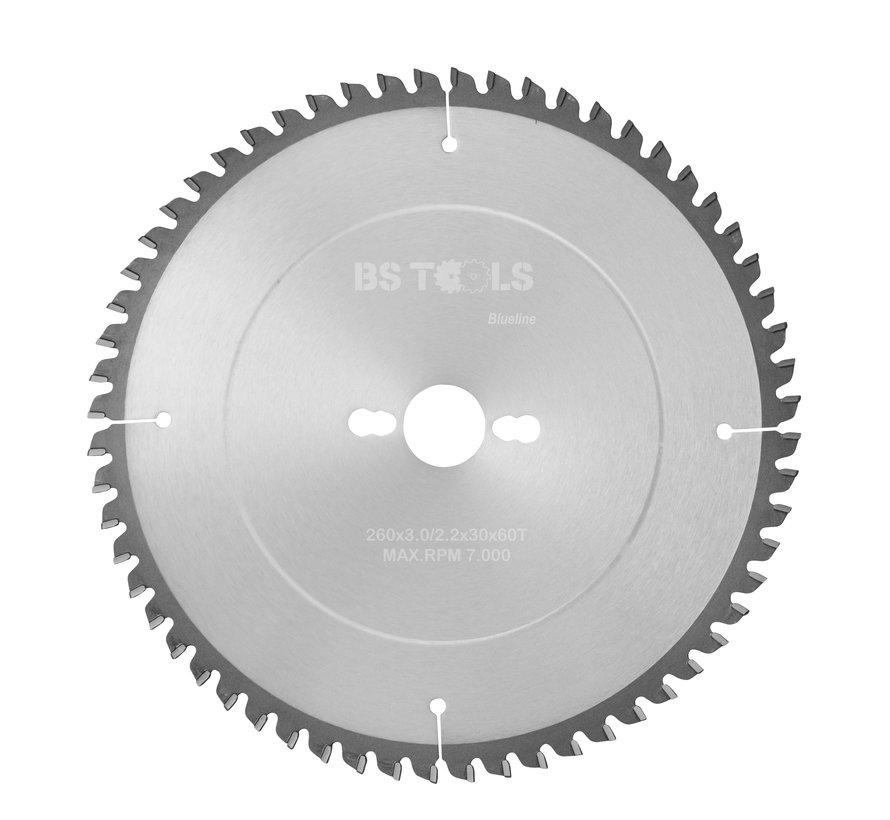 Circular sawblade BlueLine 260 x 3,0 x 30 mm.  T=60 for aluminum