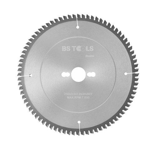 BS tools BlueLine Circular sawblade BlueLine 250 x 3,0 x 30 mm.  T=80 for aluminum
