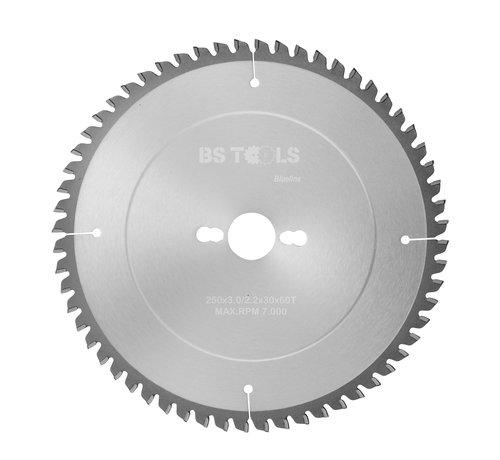 BS tools BlueLine Circular sawblade BlueLine 250 x 3,0 x 30 mm.  T=60 for aluminum