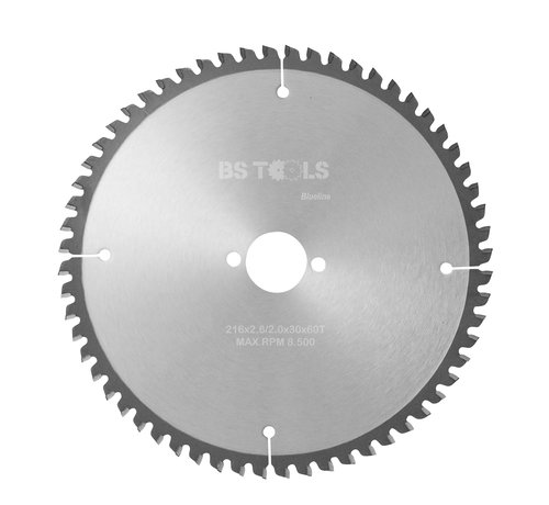 BS tools BlueLine Circular sawblade BlueLine 216 x 2,6 x 30 mm.  T=60 for aluminum