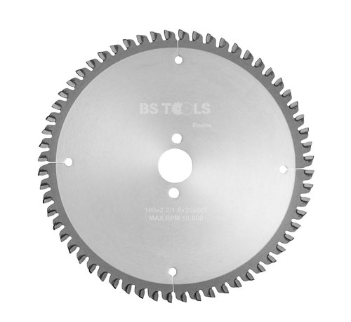 BS tools BlueLine Circular sawblade BlueLine 160 x 2,2 x 20 mm.  T=60 for aluminum