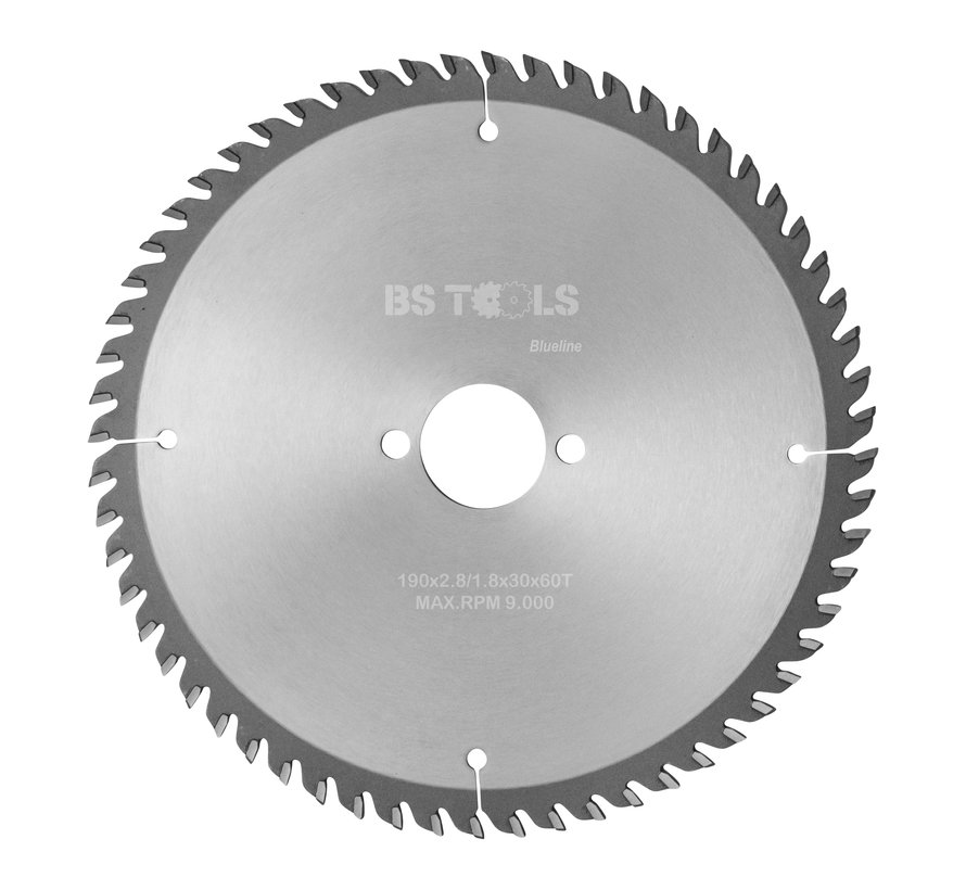 HM cirkelzaag BlueLine 190 x 2,8 x 30 mm.  T=60 voor laminaat en Trespa