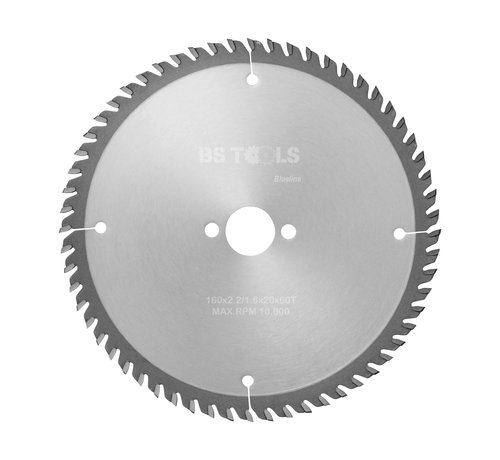 BS tools BlueLine Circular sawblade BlueLine 160 x 2,2 x 20 mm.  T=60 for laminate and Trespa