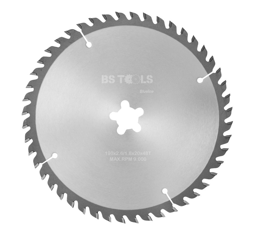 Circular sawblade BlueLine 190 x 2,6 x FF mm.  T=48 alternate top bevel teeth