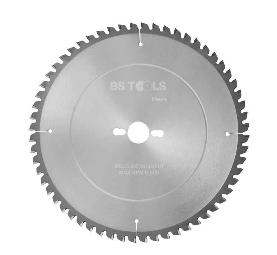 Circular sawblade BlueLine 305 x 3,2 x 30 mm.  T=60 alternate top bevel teeth negative
