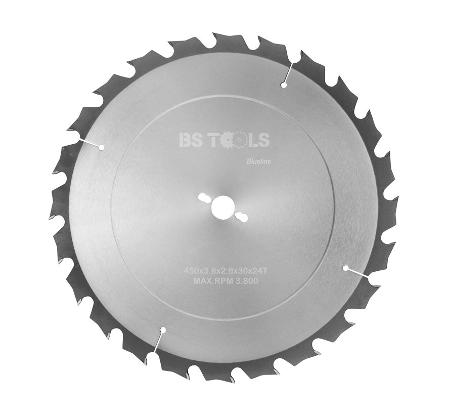 Circular sawblade BlueLine 450 x 3,8 x 30 mm.  T=24 alternate top bevel teeth