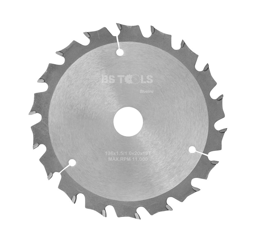 Circular sawblade BlueLine 136 x 1,5 x 20 mm.  T=18 alternate top bevel teeth